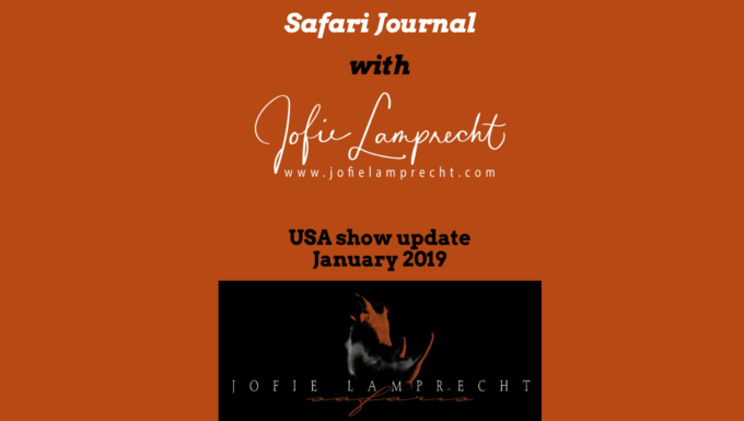 USA show update and special January 2019 with Jofie Lamprecht